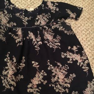 Navy floral tunic!